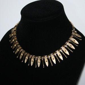 "Stunning vintage gold necklace 17"""